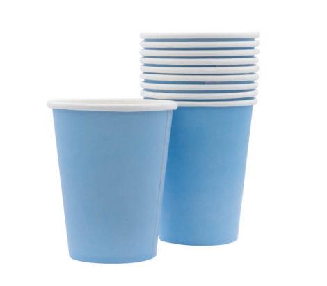 light blue cup