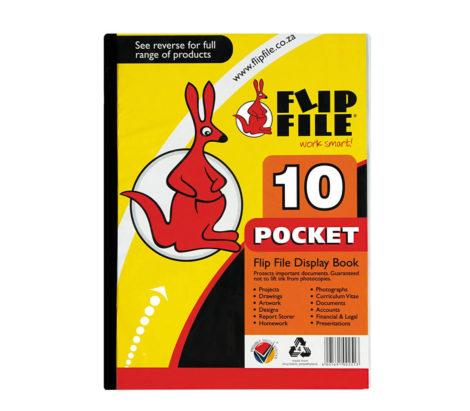10 pocket flip file